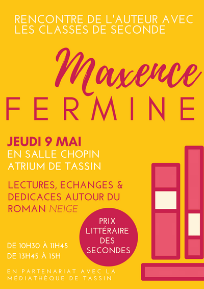 Affiche Maxence Fermine